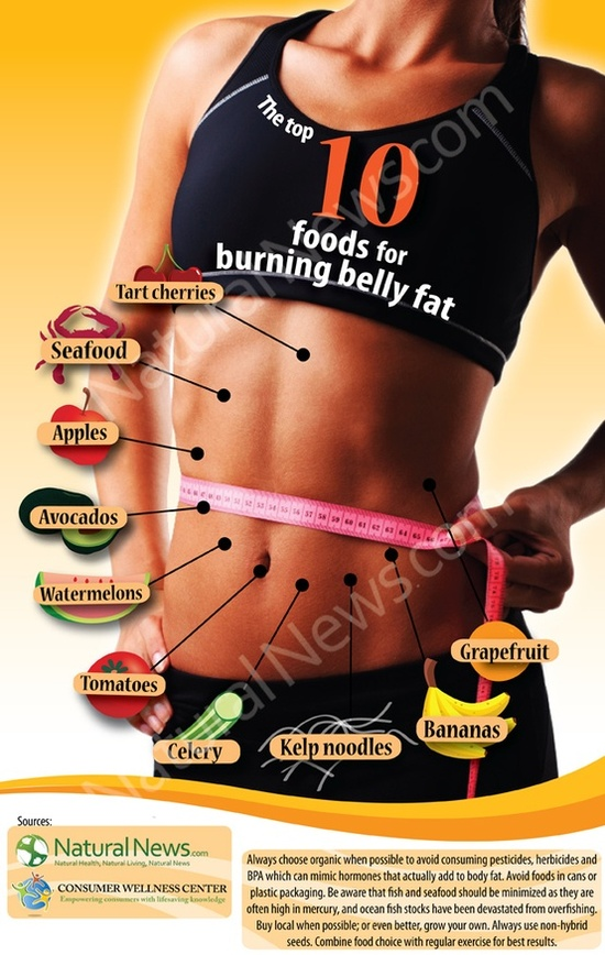 Top ten foods to burn tummy fat
